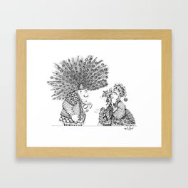 Taking to a Peacock Framed Art Print