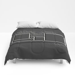 Parallel black white lines No. 03 Comforters