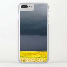 Simply Spring - Thunderstorm Over Yellow Fields in Oklahoma Clear iPhone Case
