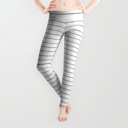 Simple Black and White Stripes Leggings