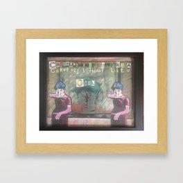 Careful Triptych Framed Art Print