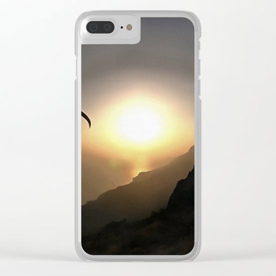 Paragliders Flying Without Wings Clear iPhone Case