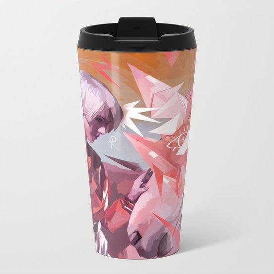 ORIGAMI HORSE Metal Travel Mug