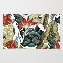 Tropical Frenchie Rug