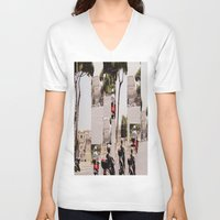 roman V-neck T-shirts featuring Roman Traffic by Eva Lesko