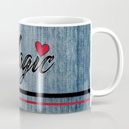 Magic Heart Stonewashed Denim Coffee Mug