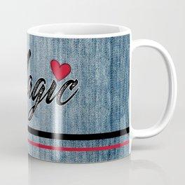 Magic Heart Stonewashed Denim Coffee Mug