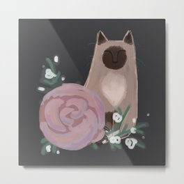 Ragdolls and Roses Metal Print