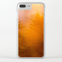 Golden Morning Glory Forest Clear iPhone Case