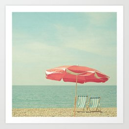 Deserted Beach Art Print