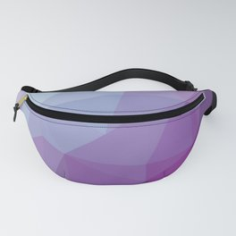 Shades Of Purple Triangle Abstract Fanny Pack