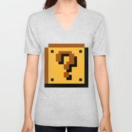 Super Mario question mark block Unisex V-Neck