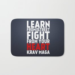 Learn from the Street Krav Maga Bath Mat
