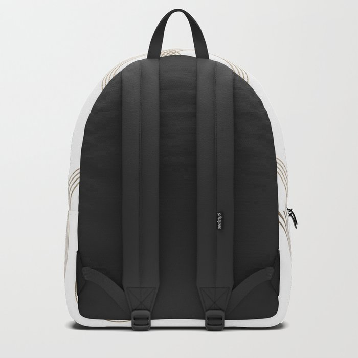 Simply Infinity Link in White Gold Sands on White Backpack