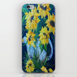 Sunflowers in a Country Pot iPhone Skin