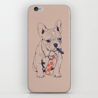 boss iPhone & iPod Skins featuring FRENCH BULLDOG BOSS by Huebucket