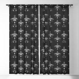 Metaphys Moth - Black Blackout Curtain
