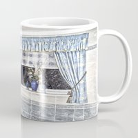 bathroom Mugs featuring Bathroom Image by Valerie Paterson