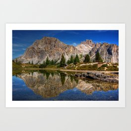 Dolomites mountain range in northeastern Italy Art Print