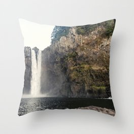 Snoqualmie Waterfall Throw Pillow