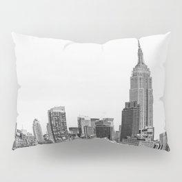 The New York Cityscape City (Black and White) Pillow Sham