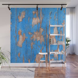 Flaky Blue 61 Wall Mural