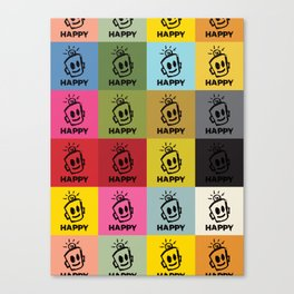 HAPPY SQUARES Canvas Print