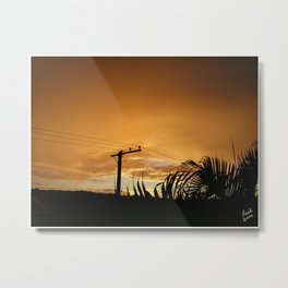 Golden Peace Metal Print