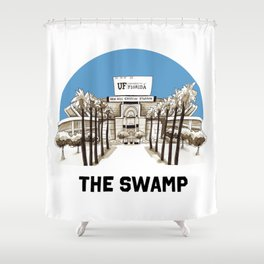 UF Print Shower Curtain