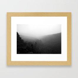 Haleakala Valley 3 (BW) Framed Art Print