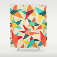 dancing Shower Curtains featuring Dancing Stars by Picomodi