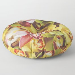 Close up Orchid 22 Floor Pillow