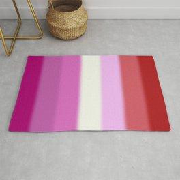 Lesbian Pride Flag Rug
