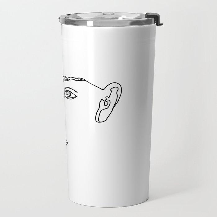 Face one line illustration - Esha Travel Mug