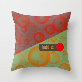 bubbles pillow design Throw Pillow