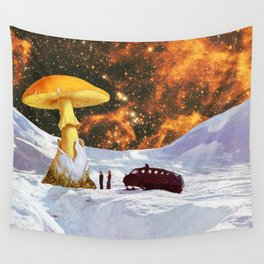 Withe Planet Wall Tapestry