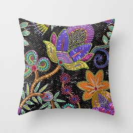 Sequins seamless pattern. Throw Pillow