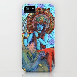 Krishna snake elephant iPhone Case