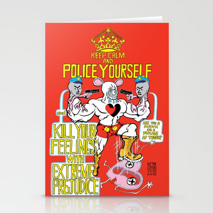 POLICE YOURSELF Stationery Cards