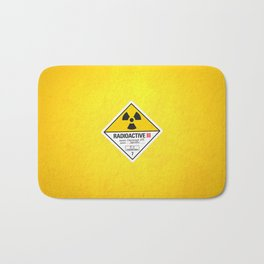 Radioactive sign Back to the future Bath Mat