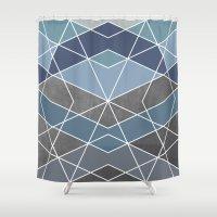 geometry Shower Curtains featuring Geometry by Marta Olga Klara