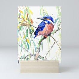 Kingfisher and Willow Mini Art Print