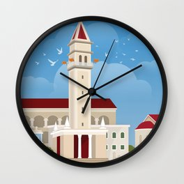 Zakynthos, The bell tower of St. Dionysios (GR) Wall Clock