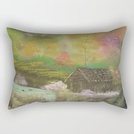 Deep Forest Cabin Rectangular Pillow