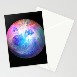 Globe22/For a round heart Stationery Cards