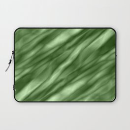 A interweaving cluster of green bodies on a violet background. Laptop Sleeve