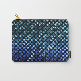 Crystal Bling Strass Blue G312 Carry-All Pouch