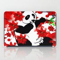 red panda iPad Cases featuring Panda by Saundra Myles