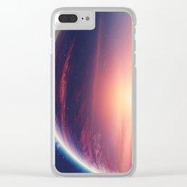 Jupiterian sunset Clear iPhone Case