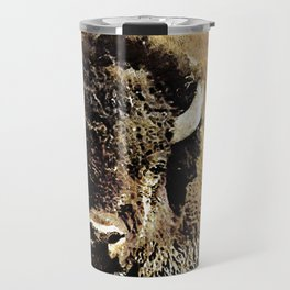 Grunge Style Buffalo Painting Travel Mug